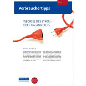 Verbrauchertipps - Vergleichsportale für Strom- und Gastarife  (Download), 4 Seiten, aus Magazin 01/2016